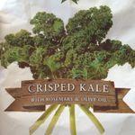 Grønnkålchips (Crisped kale)