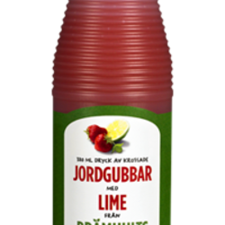 Jordgubbar med Lime - Jordbær Saft