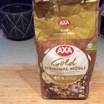 Axa Gold original müsli  m/hasselnøtter, rosiner og dadler