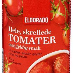 Hele, skrellede tomater