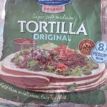 Organic Super soft medium Tortilla original