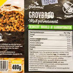 Grovbrød med parmesanost (glutenfri)
