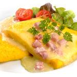 Omelett m/skinke