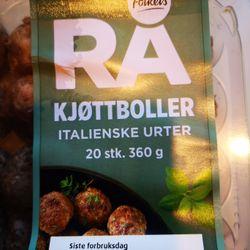 Rå Kjøttboller italienske urter