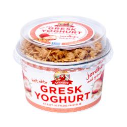 Gresk yoghourt jordbær med granola