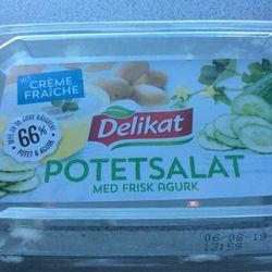 Potetsalat med frisk agurk/creme fraiche