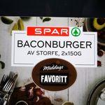 Baconburger av storfe
